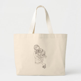 Moon Harp Tote Bags