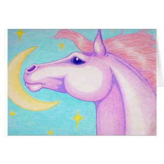 Moon Horse Greeting Card