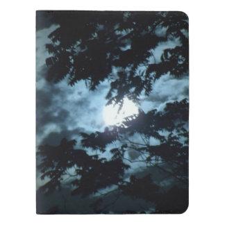 Moon Illuminates the Night behind Tree Branches Extra Large Moleskine Notebook