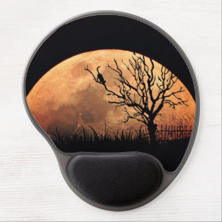 Moon illustration gel mouse pad