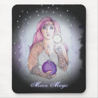 Moon in a Bottle Witch Wiccan Pagan Mouse Pad