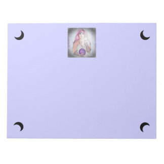 Moon in a Bottle Witch Wiccan Pagan Memo Notepads