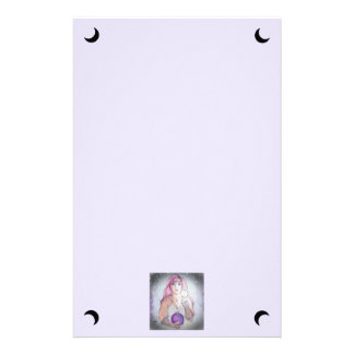 Moon in a Bottle Witch Wiccan Pagan Stationery
