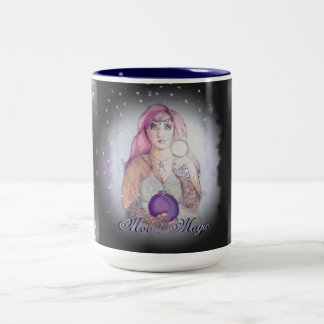 Moon in a Bottle Witch Wiccan Pagan Two-Tone Coffee Mug