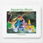 Moon in Aquarius Mouse Pad