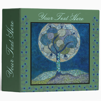 moon in bloom - painting - binder
