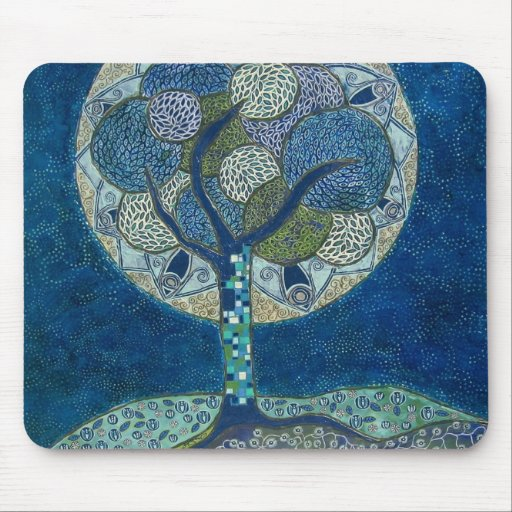 Moon in Bloom (painting) mouse pad