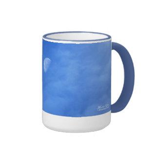 Moon in Blue Ringer Mug