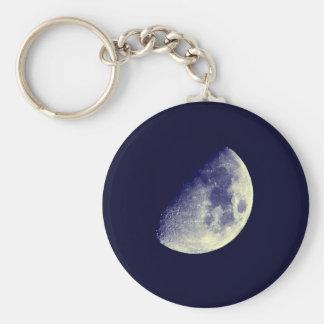 Moon in blue sky keychain