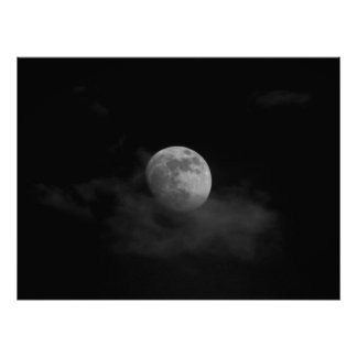 Moon in Clouds Print