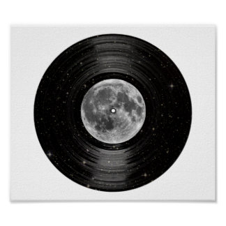Moon In Space Vinyl LP Record Poster