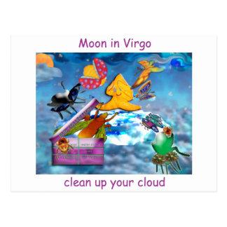 Moon in Virgo Postcard