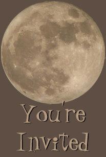 full moon invitations zazzle