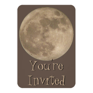 """Moon Invitations Personalized Full Moon RSVP Cards 3.5"""" X 5"""" Invitation Card"""