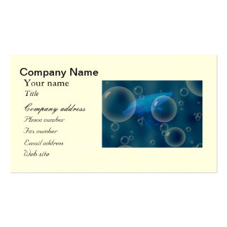 Moon Jellyfish at Bubbled sea Business Card