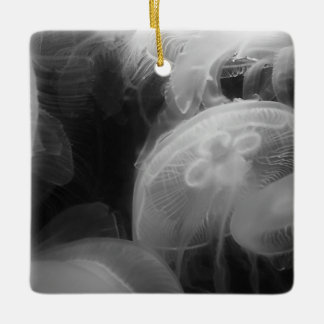 Moon Jellyfish Ceramic Ornament