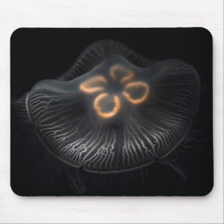 Moon Jellyfish Outline Mouse Pad