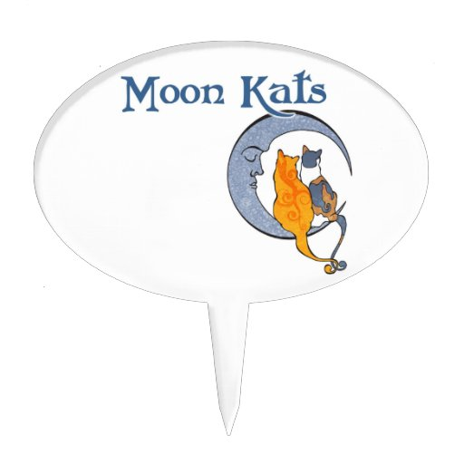Moon Kats Cake Topper