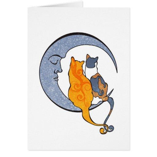 Moon Kats Greeting Card