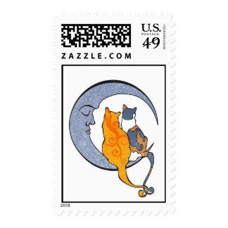 Moon Kats Postage