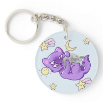 Moon Kitty Keychain