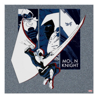 Moon Knight Panels Poster
