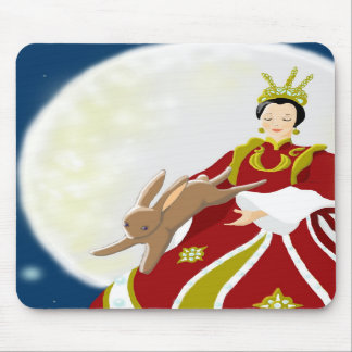 Moon Lady and Rabbit Mousepads
