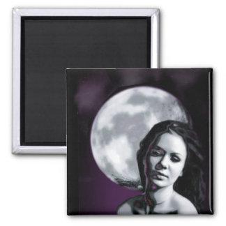 moon lady refrigerator magnet