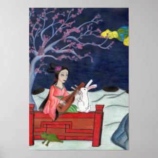 Moon Lady Print