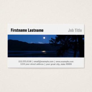 Moon Lake at Night Business Card