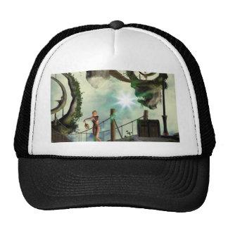 Moon land mesh hat