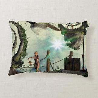 Moon land accent pillow