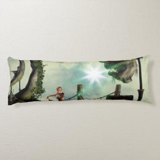 Moon land body pillow