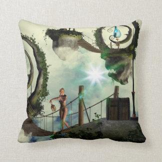 Moon land throw pillows