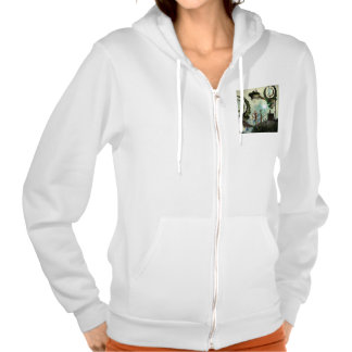 Moon land hooded pullovers