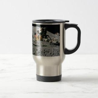 moon landing apollo 15 lunar module nasa 1971 travel mug