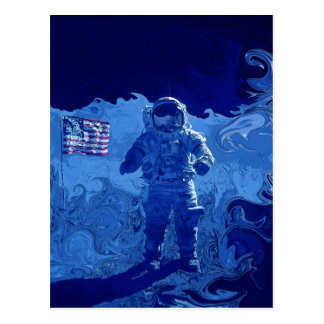 Moon Landing Postcard
