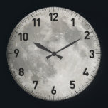 """Moon Large Clock<br><div class=""""desc"""">High resolution photo of the Moon.</div>"""
