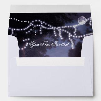 Moon Light and Tree Lights Envelope