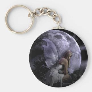Moon Light Fairy Basic Round Button Keychain