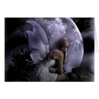 Moon Light Fairy Greeting Card