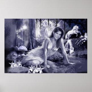 Moon Light Fairy Poster