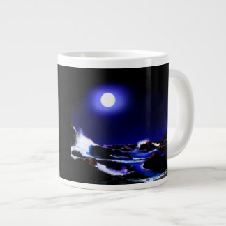 moon light shining large coffee mug