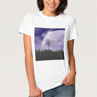 Moon Light Stars Sky Trees Whimsical Personalize Shirt