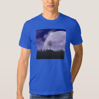 Moon Light Stars Sky Trees Whimsical Personalize T-shirt