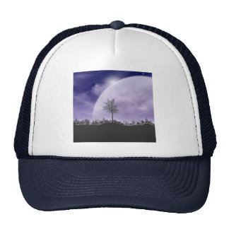 Moon Light Stars Sky Trees Whimsical Personalize Trucker Hat