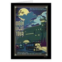 Moon Light Tour Illustration Card