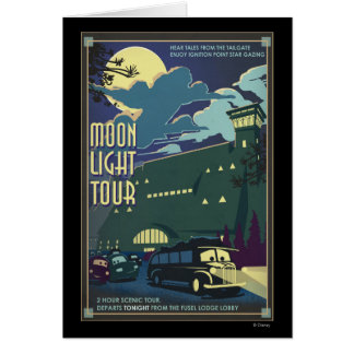 Moon Light Tour Illustration Greeting Card