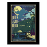 Moon Light Tour Illustration Postcard