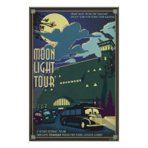 Moon Light Tour Illustration Poster
